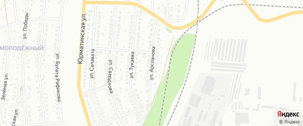 Улица Арсланова на карте Мелеуза с номерами домов
