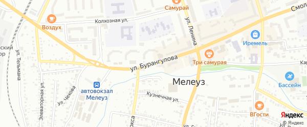 Улица Бурангулова на карте Мелеуза с номерами домов