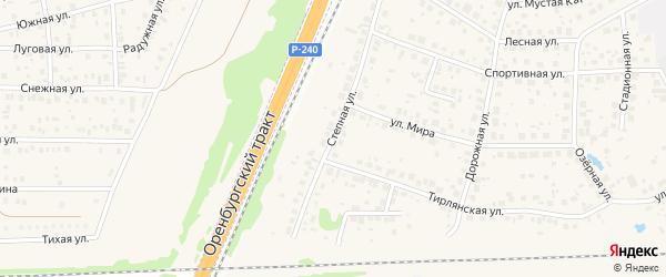 Степная улица на карте села Чесноковки с номерами домов