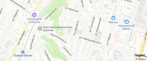 Гончарная улица на карте Уфы с номерами домов