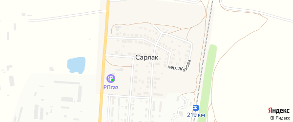 Переулок Маршала Жукова на карте деревни Сарлака с номерами домов