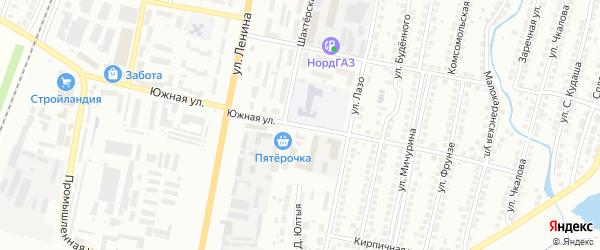 Южная улица на карте Мелеуза с номерами домов