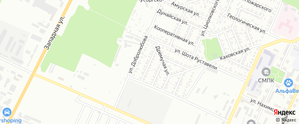 Улица Вахтангова на карте Стерлитамака с номерами домов