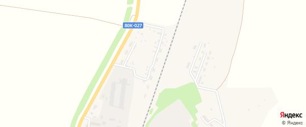 Железнодорожная улица на карте села Васильевки с номерами домов