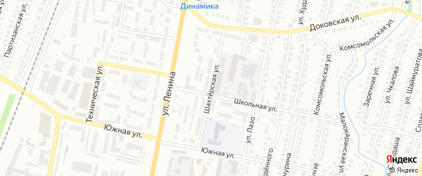 Шахтерская улица на карте Мелеуза с номерами домов
