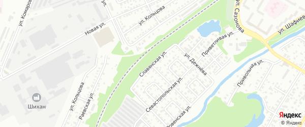 Славянская улица на карте Стерлитамака с номерами домов