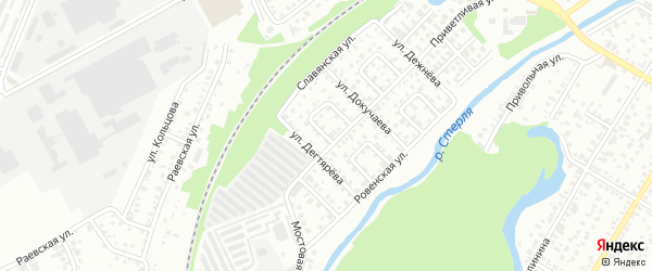 Севастопольский 2-й переулок на карте Стерлитамака с номерами домов