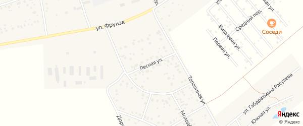 Лесная улица на карте села Красного Яра с номерами домов