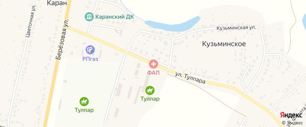 Улица Тулпара на карте деревни Карана с номерами домов
