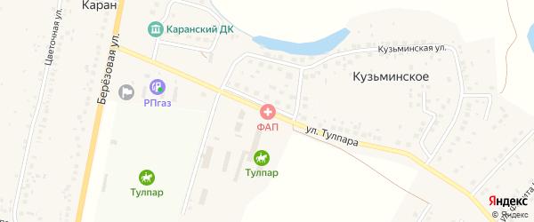 Улица Тулпара на карте деревни Кузьминского с номерами домов