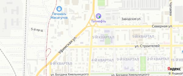 Первомайская улица на карте Салавата с номерами домов