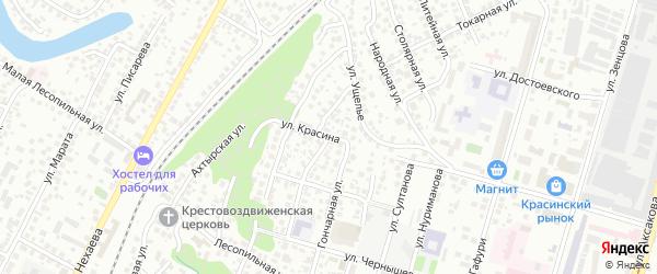 Родниковская улица на карте Уфы с номерами домов