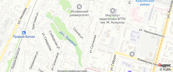 Аральская улица на карте Уфы с номерами домов