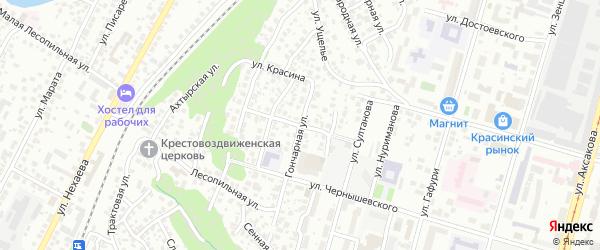 Ключевская улица на карте Уфы с номерами домов