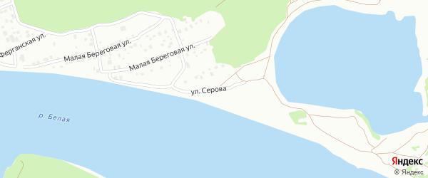 Улица Серова на карте Уфы с номерами домов