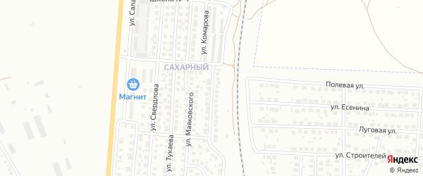 Улица Комарова на карте Мелеуза с номерами домов