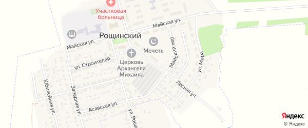 Лесная улица на карте села Рощинского с номерами домов