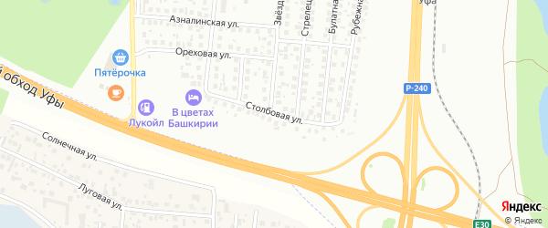 Столбовая улица на карте Уфы с номерами домов