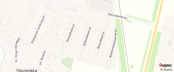 Юбилейная улица на карте села Наумовки с номерами домов
