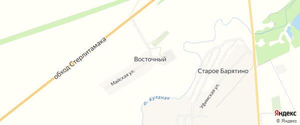 Карта деревни Восточного в Башкортостане с улицами и номерами домов