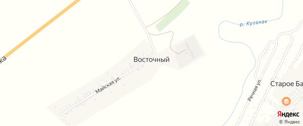 Майская улица на карте деревни Восточного с номерами домов