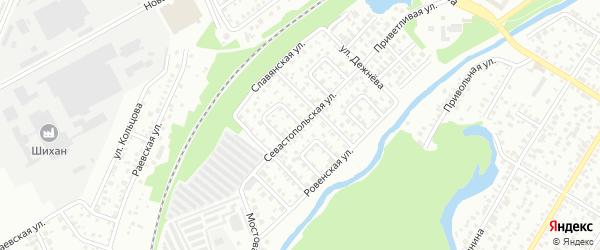 Севастопольская улица на карте Стерлитамака с номерами домов
