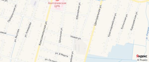 Юбилейная улица на карте села Старобалтачево с номерами домов