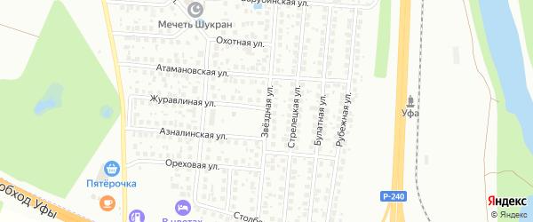 Звездная улица на карте населенного пункта п/л свх Цветы Башкирии с номерами домов