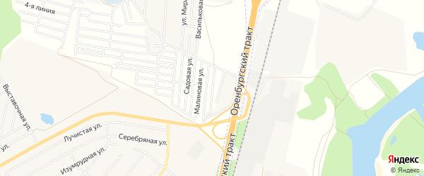 СНТ Солнечная поляна N4 на карте Уфимского района с номерами домов
