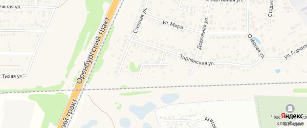 Улица Салавата на карте села Чесноковки с номерами домов