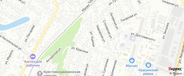 Улица Ущелье на карте Уфы с номерами домов