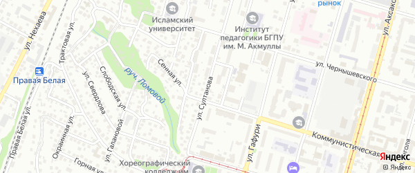 Улица Султанова на карте Уфы с номерами домов