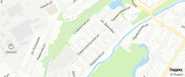 Улица Докучаева на карте Стерлитамака с номерами домов