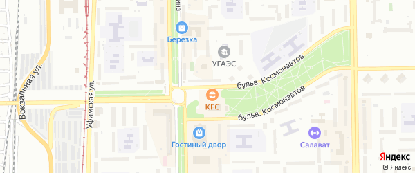 Тупик Космонавтов на карте Октябрьского с номерами домов