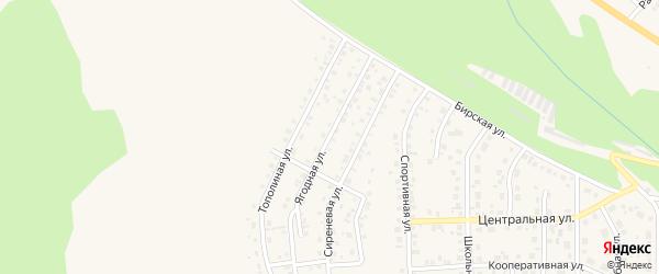 Ягодная улица на карте Благовещенска с номерами домов