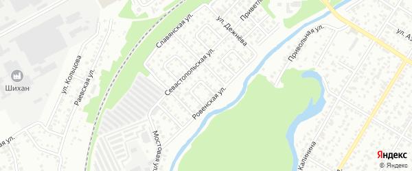 Ровенский 2-й переулок на карте Стерлитамака с номерами домов