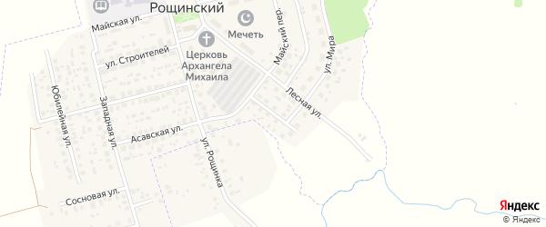 Молодёжная улица на карте села Рощинского с номерами домов