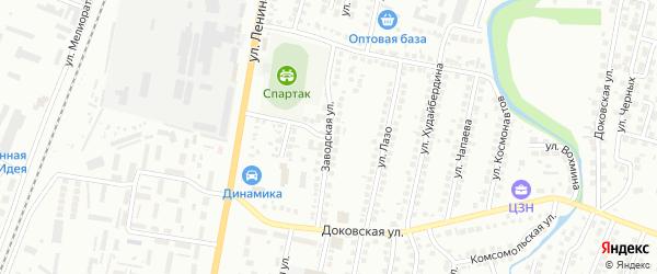 Заводская улица на карте Мелеуза с номерами домов