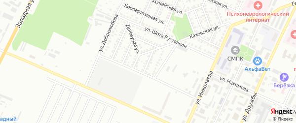Улица Димитрова на карте Стерлитамака с номерами домов