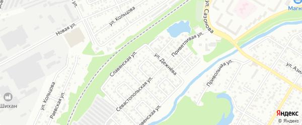 Севастопольский 1-й переулок на карте Стерлитамака с номерами домов