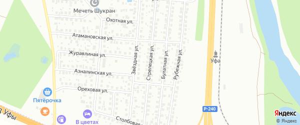 Стрелецкая улица на карте Уфы с номерами домов