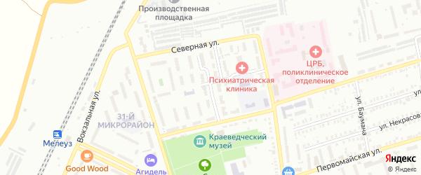 Улица Дзержинского на карте Мелеуза с номерами домов