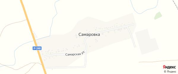 Самарская улица на карте деревни Самаровки с номерами домов