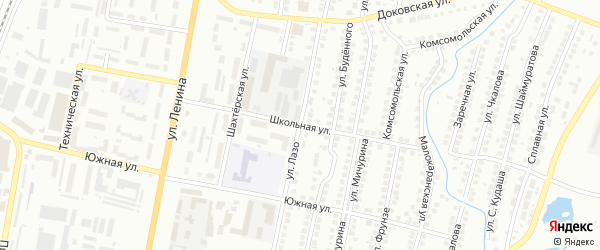 Школьная улица на карте Мелеуза с номерами домов