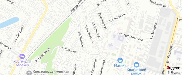 Народная улица на карте Уфы с номерами домов