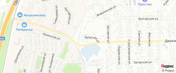 Запасная улица на карте Уфы с номерами домов