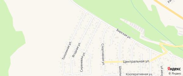 Сиреневая улица на карте Благовещенска с номерами домов