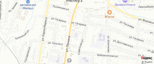 Колхозный 2-й переулок на карте Мелеуза с номерами домов