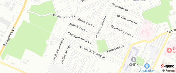 Дунайский переулок на карте Стерлитамака с номерами домов