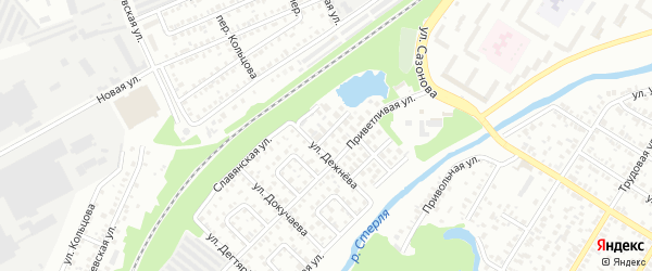 Улица Нефтехимиков на карте Стерлитамака с номерами домов